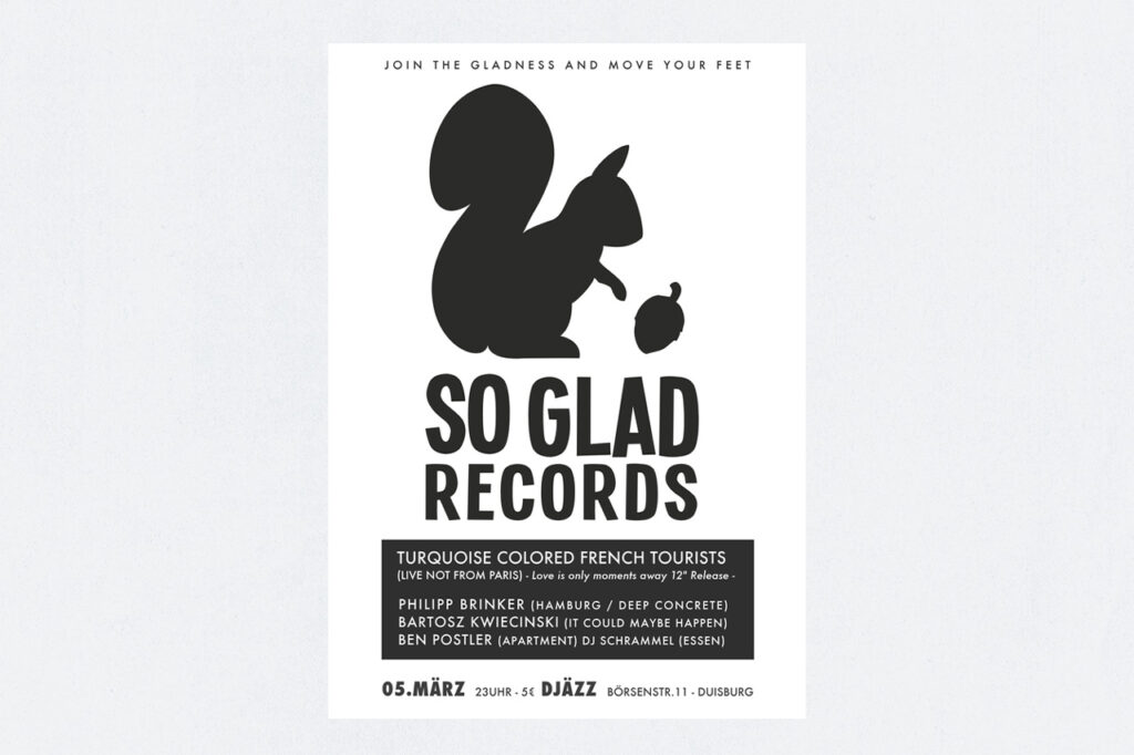 So Glad Records Poster